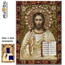 RUBOS Icon Christ Pantocrator DIY 3D diamond embroidery Religion diamond mosaic painting 5D pattern crystal glass home decor set