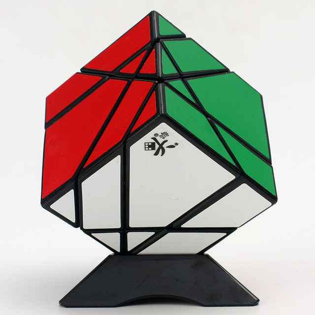 DaYan Stickerless Puzzle Tangram Magic Cube Branco Balck Velocidade Cubos Mágicos Cubo Magico Educacional Brinquedos Especiais Frete Grátis