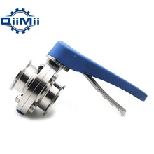 """1"""" /1 1/2"""" /2"""" Stainless Steel Sanitary 1""""/1.5""""/2 Tri Clamp Butterfly Valve Squeeze Trigger for Homebrew Dairy Product"""