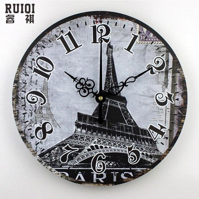 venta al por mayor parís torre eiffel decoración del hogar relojes