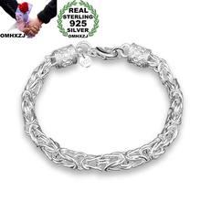 3e03f44be906 OMHXZJ al por mayor personalidad moda OL mujer chica fiesta regalo plata  dragón cabeza cadena gruesa 925 plata esterlina pulsera.