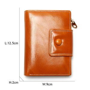 Image 4 - Portefeuille pour femmes en cire dhuile, portefeuille 2020, pochette de marque en cuir, Long, portefeuille Design décontracté