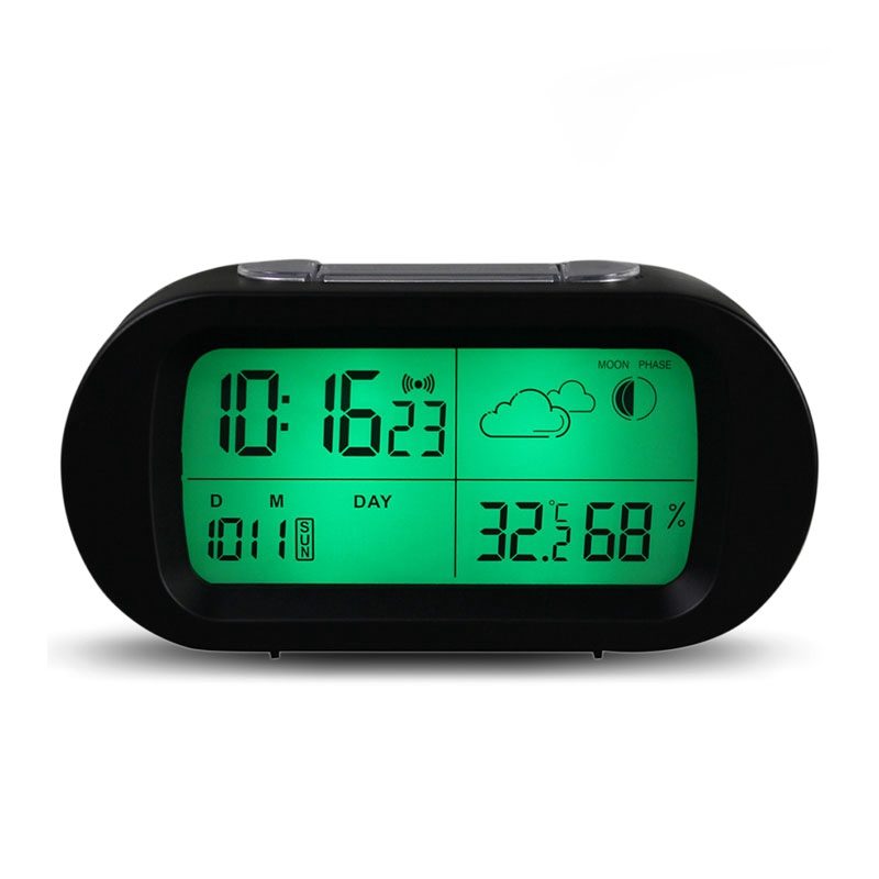 High Quality Digital Time Thermometer Date Weather Display Snooze Mode Ala Rm Clock With LCD Screen
