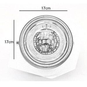 Image 5 - Светодиодный налобный фонарь для мотоцикла, универсальное освесветильник для мотоцикла 7 дюймов, 12 В постоянного тока, модный головной фонарь для скутера с мотором в стиле ретро, черный, круглый светодиод