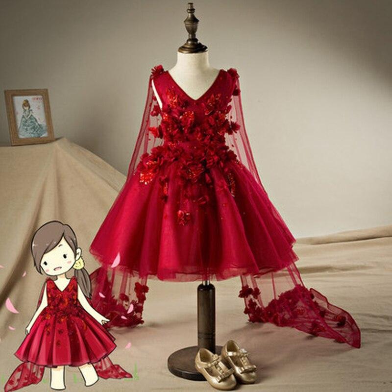 Cendrillon robe princesse fille robe princesse sans manches automne hiver bébé robe bébé Performance smoking