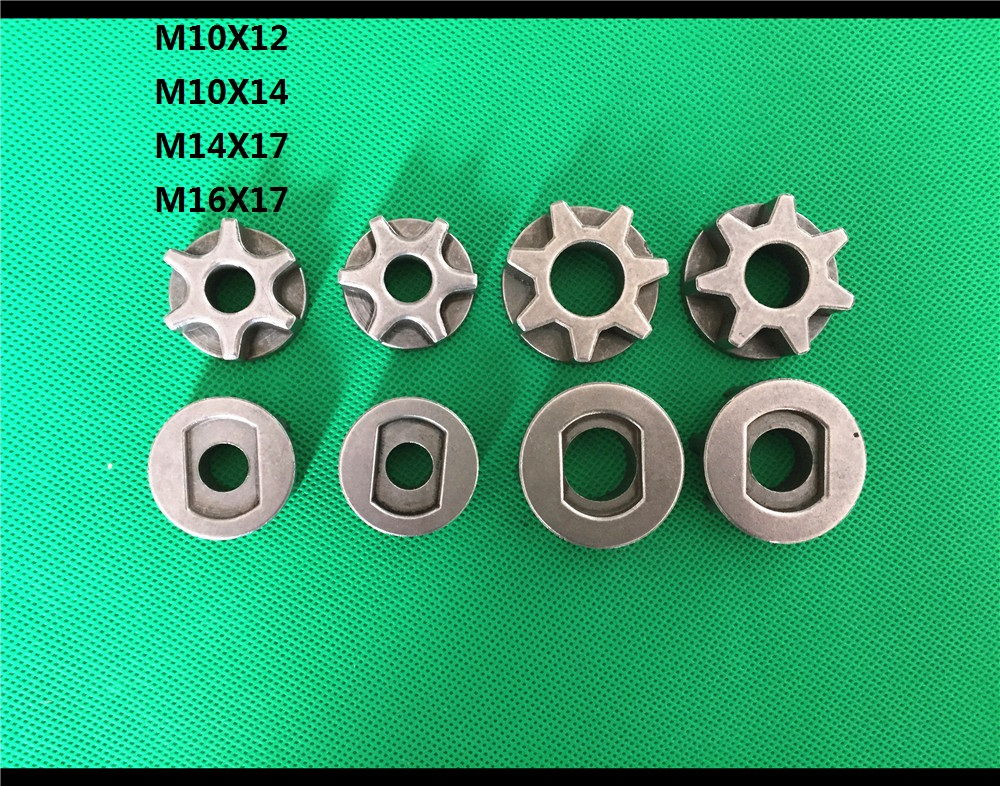 Chain Saw Gear Nut Sprocket For 100# 115# 125# 150# Bosch Angle Grinder Replacement Star Gear For Saw Bracket Asterisk Adapter