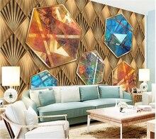 beibehang Custom wallpaper papel de parede Geometric abstract oil painting 3D embossed background wall papier peint behang