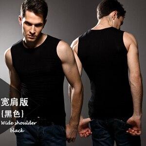 Image 2 - ¡Alta calidad! Ropa interior de color sólido para hombre, Chaleco Ajustado, licra, alta elasticidad, hombros anchos, ropa interior
