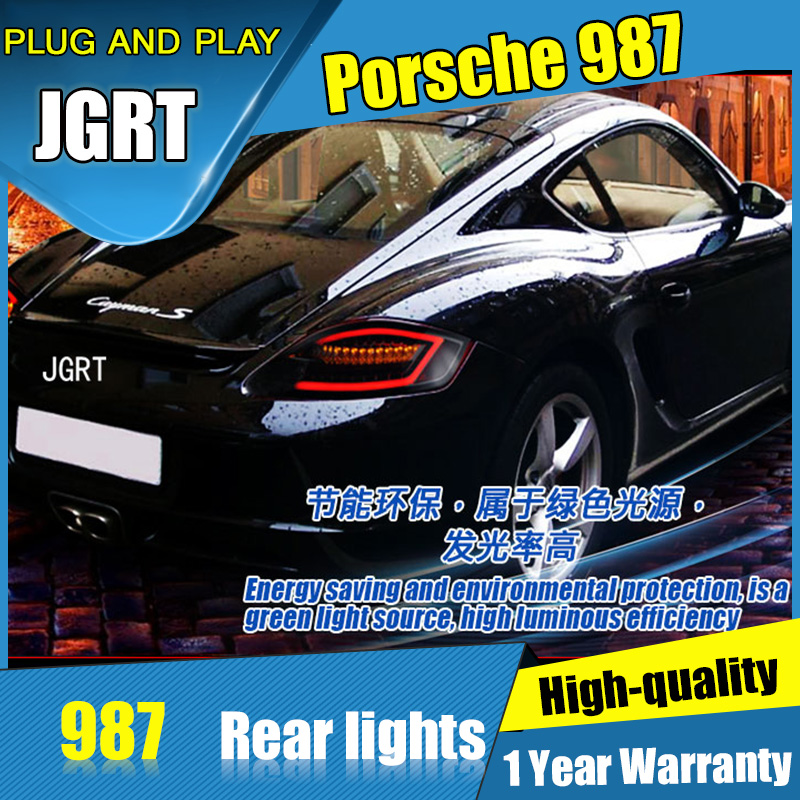 2PCS Car Styling for Porsche 987 Taillights 2004-2008 for 987 LED Tail Lamp+Turn Signal+Brake+Reverse LED light free shipping 2pc lot led lights hi q front direction indicator lamp for porsche boxster 987 up to 2008
