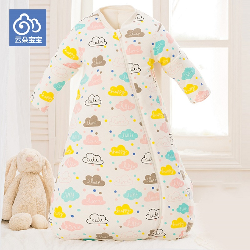 Baby sleeping bag envelop for neonate pure cotton newborn baby infant wrapped cocoon in winter stroller bag well details boy girl infant wrap envelop for newborns sleeping bag pure cotton printed with fawn patterns thicken in autum winter or sprin