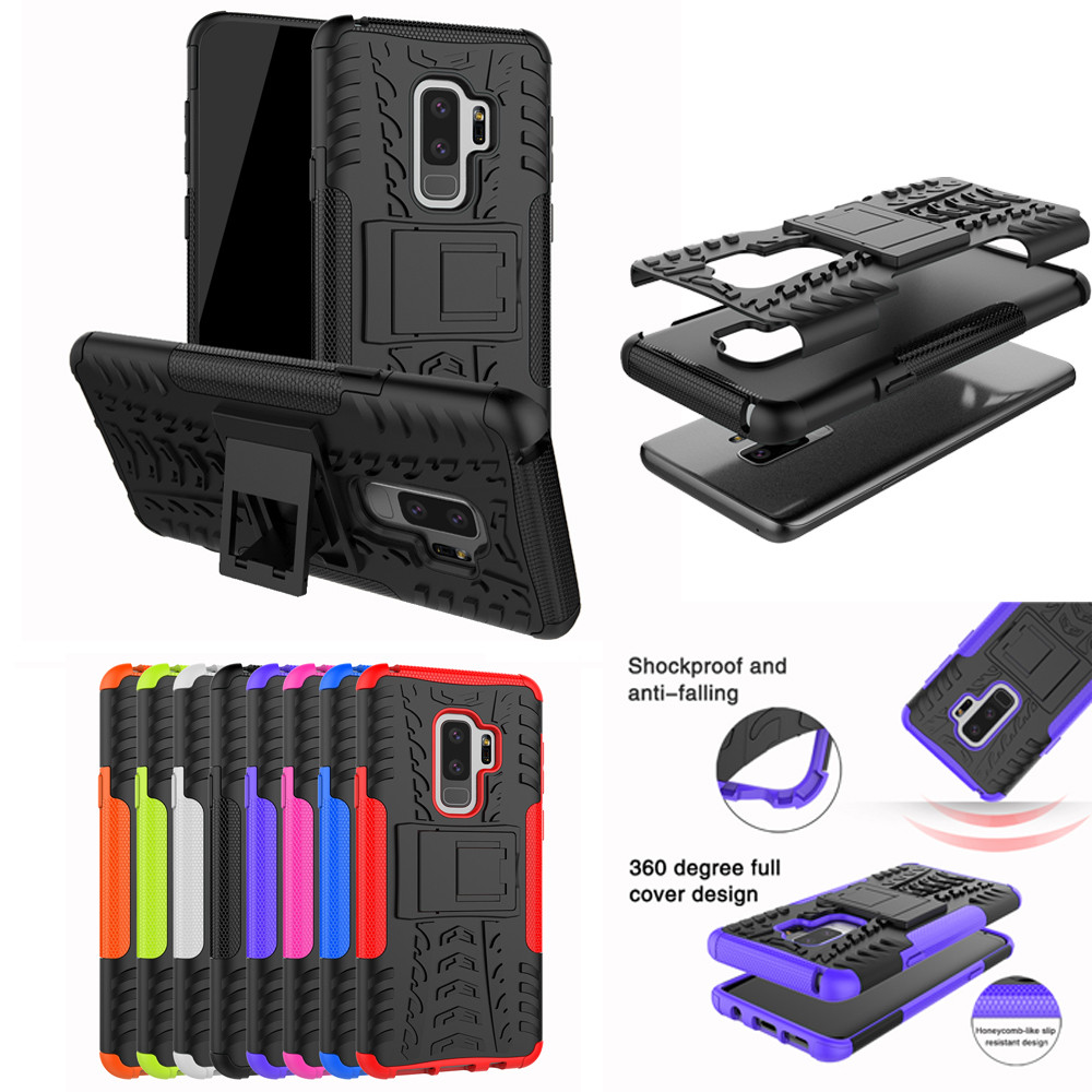 2018 Top Fashion Shockproof Heavy Duty Stand Case Skin Cover For Samsung Galaxy S9 Plus 6.2inch free Shippingdrop shopping
