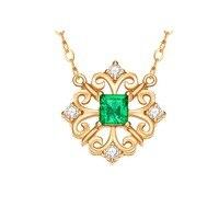 ENZO Pure 18 К желтое золото AU750 1 шт./0.2CT изумруд с бриллиантами цепочки и ожерелья для женщин кулон талисманы роскошные украшения Рождество