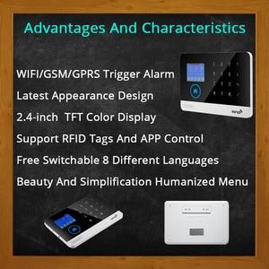 Image 5 - Quad Band Wireless Wifi GsmจอแสดงผลTFTประตูเซ็นเซอร์หน้าแรกระบบรักษาความปลอดภัยSiren KitซิมSMSนาฬิกาปลุก