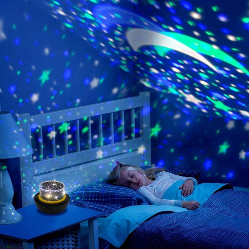 Led Night Light Lamp Child Battery Powered Starry Sky Magic Star Moon Planet Projector Lamp Bedside Lamp Night Light Children