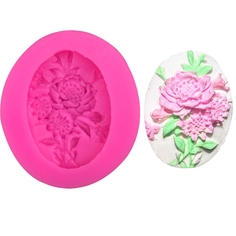 3D Reverse sugar molding Flower shape silicone mould for polymer clay molds confectionery accessories cake decoration tool F0229