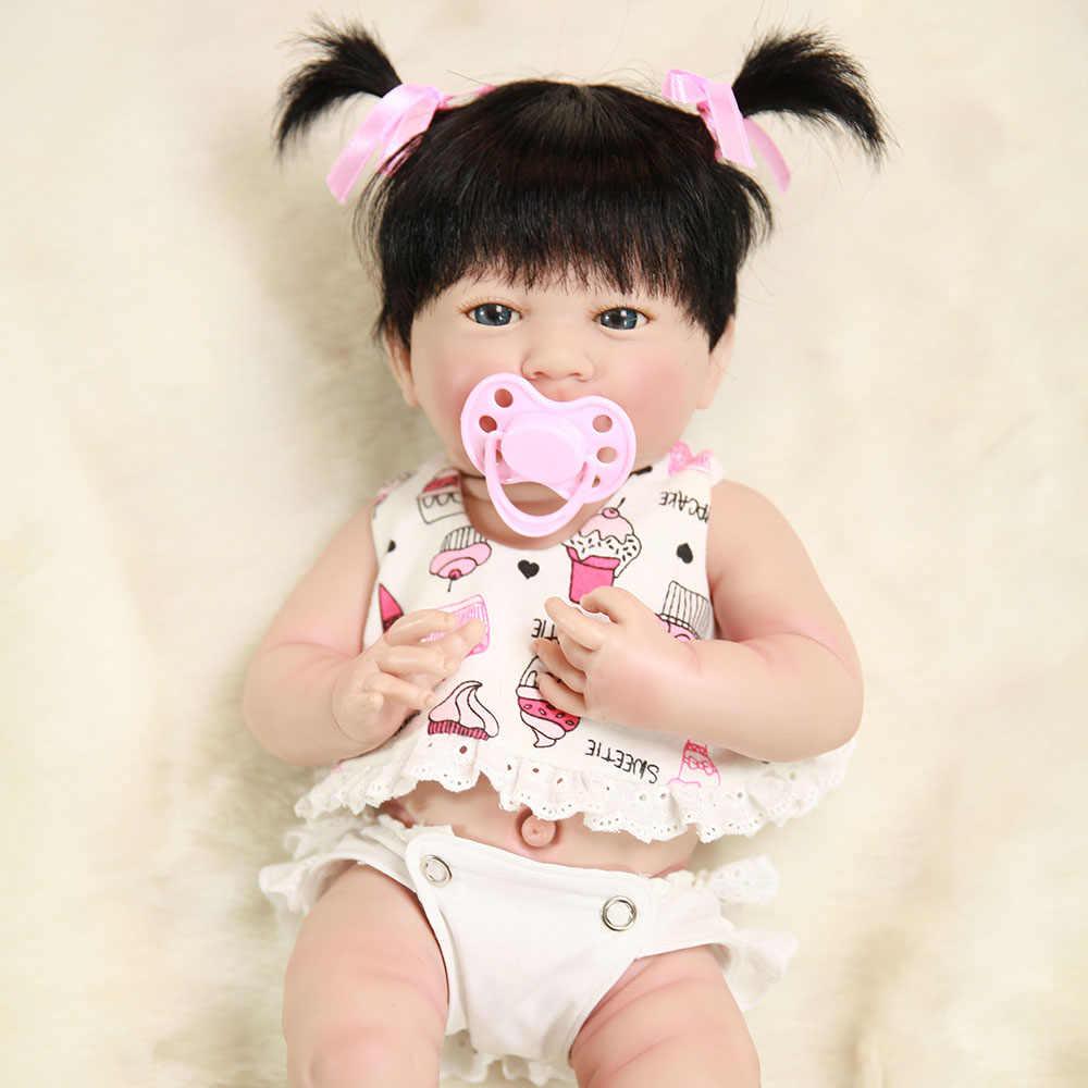 """Bebe boneca renascer 14 """"35 cm cheio de silicone vinil realista bebê reborn bonecas para meninas presente de natal l. o. l boneca surpresas npk boneca"""