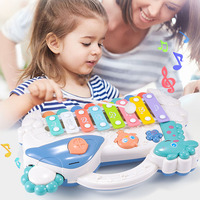 Puzzle Piano Musical Instrument Children Toys Toy 2 In1 Infant Eight Tone Piano Hands Knock Early Education Tool Birthday Gift