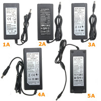 1A 2A 3A 4A 5A Power Supply Adapter For Light LED Strip AC 110 240V To