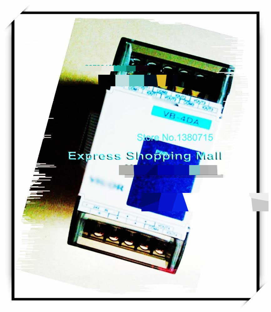 New Original VB-4DA PLC 4 point 8 Bit Analog Output Module Special Module note the picture new 7 inch tablet capacitive touch screen replacement for fx 136 v1 0 digitizer external screen sensor