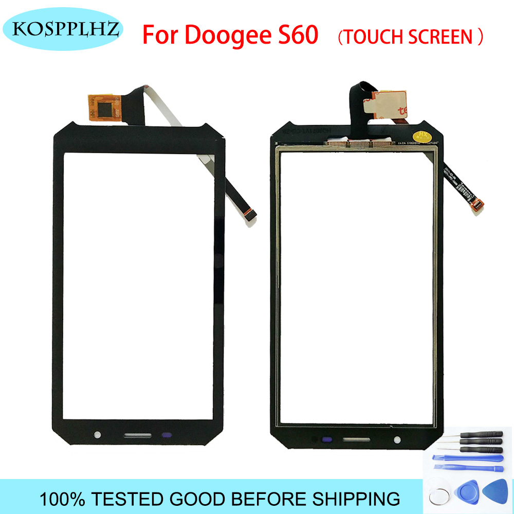 Black 5.2 Inch Front Outer Glass For Doogee S60 Touch Screen Touch Panel Lens Replacement S 60 + Tools