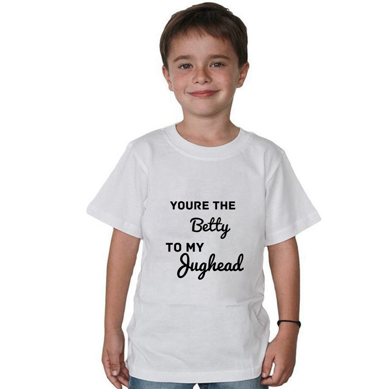 Modal Riverdale Texto Children Print Graphics O NECK Short Sleeve T Shirt Cool Design Comfortable White Tee A193111 in Matching Family Outfits from Mother Kids