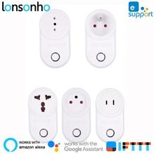 Lonsonho Wifi Socket Smart Plug 10A eWeLink App Eu France Uk Au Israel Ind Works With Alexa Google Home Assistant IFTTT