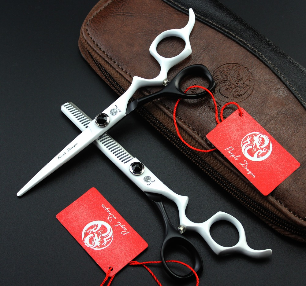 6 inch Hair Scissors set ,Straight & Thinning scissors set, Barber shears Free Shipping 30 teeth thinning scissors thinning shears japan quaity 6 thinning scissors for hair salon s styling use