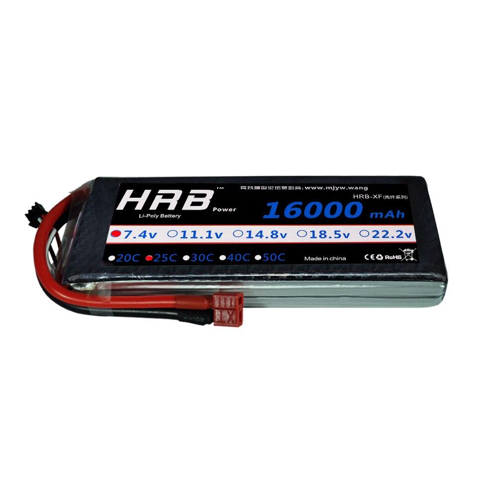 HRB Drone Lipo 16000MAH batería de la batería 2S 3S 4S 5S 6S 7,4 V 11,1 V 14,8 V 18,5 V 22,2 V 25C Max 50C para helicóptero máquina de protección de plantas-in Partes y accesorios from Juguetes y pasatiempos    2