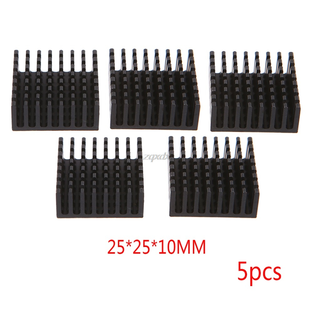 5pcs Computer Cooler Radiator Aluminum Heatsink Heat sink for Electronic Chip Heat dissipation Cooling Pads 25*25*10mm