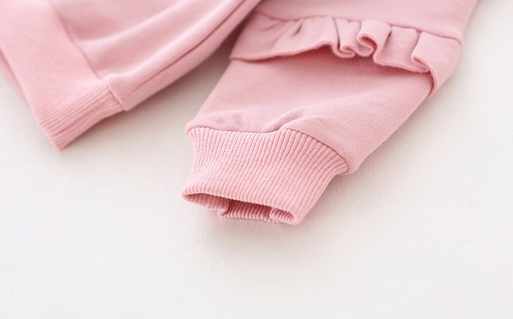 baby girl autumn fleece colorful fur balls pencil printed hoodies sweatshirt (1)