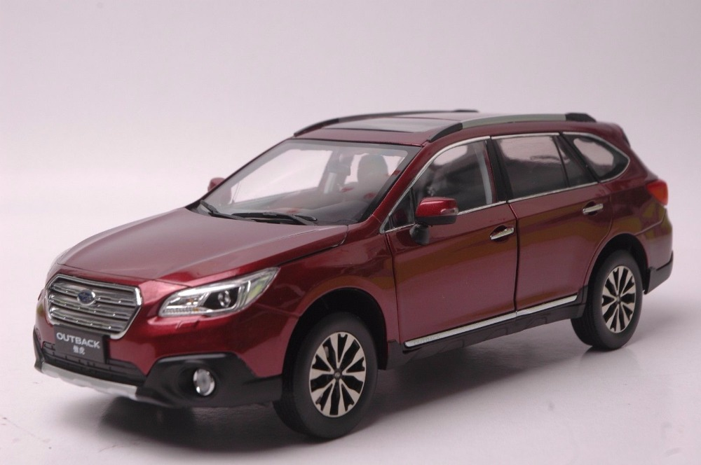 1:18 Diecast Model for Subaru Outback 2016 Red SUV Alloy Toy Car Miniature Collection Gift 1 18 diecast model for mazda mx 5 red roadstar alloy toy car miniature collection gift mx5 mx