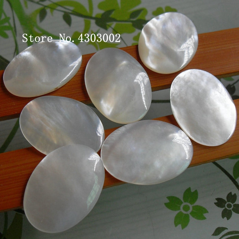 50pcs lot 13x18mm 100 Natural Oval Cabochon Mother of Pearl shell for DIY Jewelry White Oval
