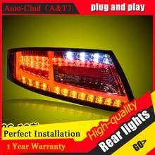 ใหม่ LED ไฟท้ายสำหรับ Audi TT 2006 2013 LED ด้านหลังเบรคย้อนกลับด้านหลังโคมไฟ DRL ไฟท้ายรถ
