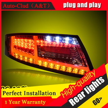 New LED Taillights Assembly For Audi TT 2006 2013 LED Rear Lamp Brake Reverse Light Rear Back Up Lamp DRL Car Tail lights