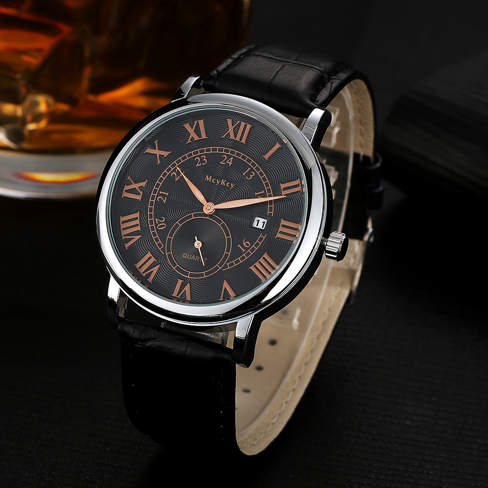 Mcykcy Men Watches Top Brand Luxury Leather Strap Clock Men Quartz Wristwatch Sport Fashion Casual Watches Dress Relogio Watch mcykcy brand men luxury stainless steel watch silver business quartz wristwatch fashion casual relogio dress watches clock my039