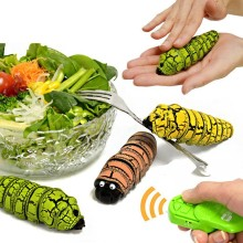 [Funny] Electronic pet Creative Simulation Remote Control RC Beetles Caterpillar Food insect toy Tricky Prank cary Toy kids gift