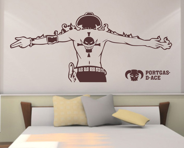 free shipping diy vinyl pirate king personality wall stickers, sofa
