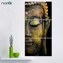 Unframed 3Pcs Abstract Buddha Oil Painting Wall Art Paintings Picture Printing Canvas Paints Home Decor For Living Room