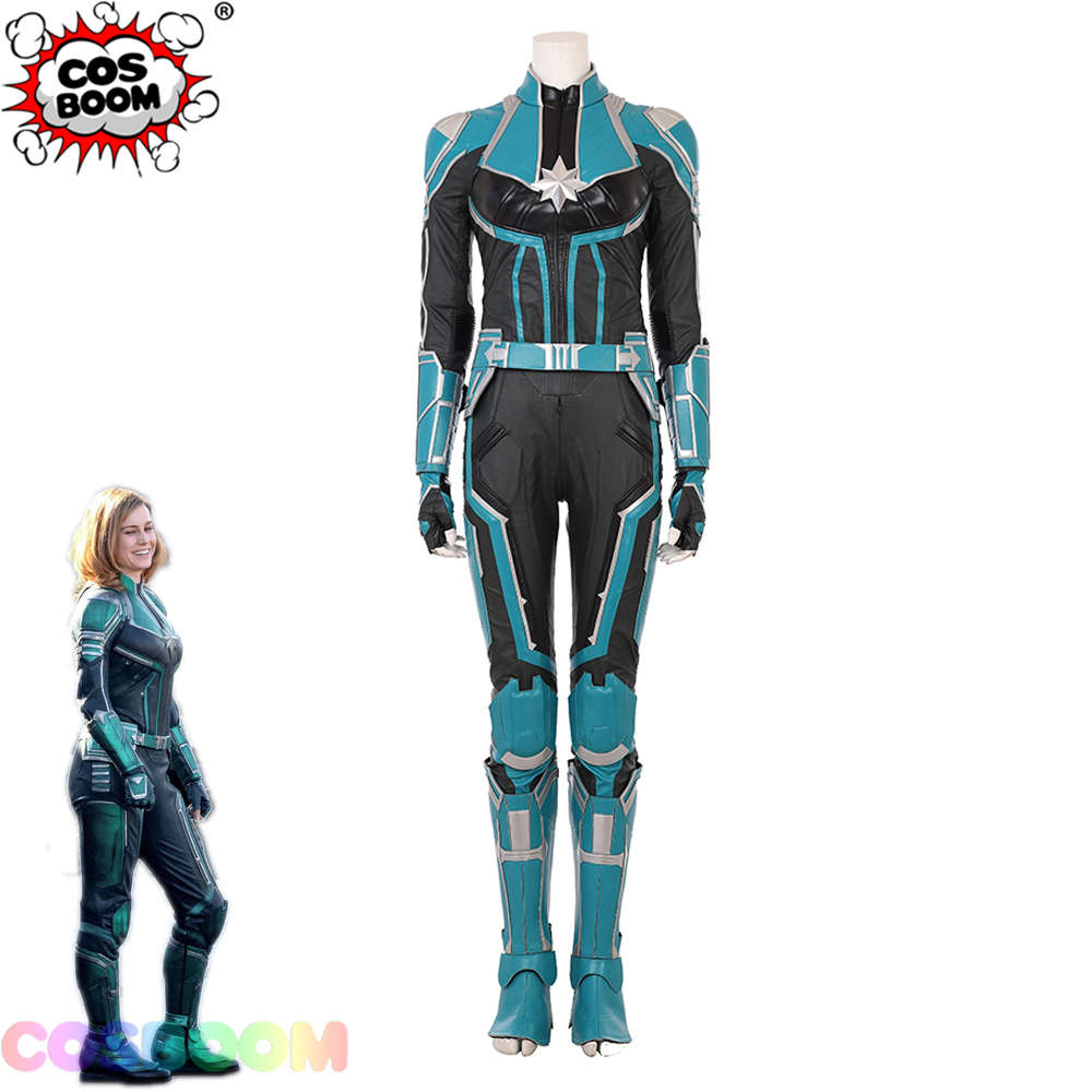 COSBOOM Captain Marvel Costume Movie Captain Marvel Carol Danvers Suit Adult Women Halloween Carnival Superhero Cosplay Costume