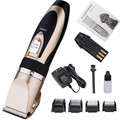 Professional Low Noise Rechargeable Cordless Pet Dogs and Cats Hair Trimmer Electric Clippers Grooming Trimming Kit Set