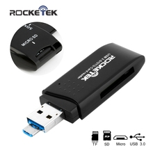 Rocketek usb 3,0 multi 2 в 1 памяти otg Телефон card reader 5 Гбит/с адаптер для SD/TF micro SD для ПК компьютер аксессуары ноутбуков