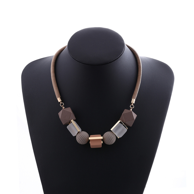 Pendants Wood Beads Necklace
