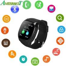 AMTERBEST T8 Bluetooth Relógio Inteligente SIM Suporte Câmera TF Cartão de Localização LBS com 0.3MP Smartwatch Sports Relógio de Pulso para Android