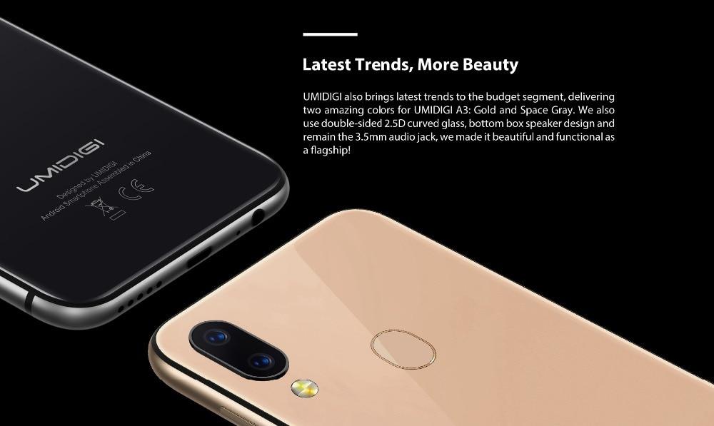"Details about UMIDIGI A3 Unlocked 4G Smartphone 5 5"" 2GB+16GB Dual SIM Quad  core Cell Phone"