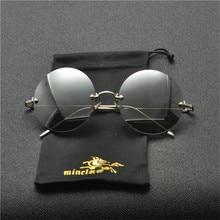 5500e59ee MINCL 2019 خمر الراب النظارات الشمسية الرجال النساء الشرير نمط الهيب هوب  صغيرة مستديرة معدنية إطار نظارات الرجعية النظارات الشمس.