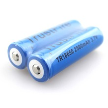 10pcs/lot TrustFire TR18650 3.7V 2500mAh Rechargeable Li-ion Battery with PCB Protection Power Source For LED Flashlight