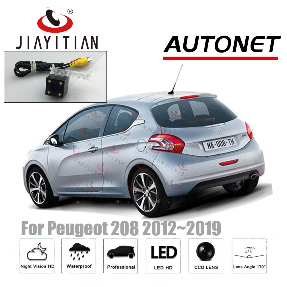 JIAYITIAN Rear View Camera For Peugeot 208 2012 2013 2014 2015 2016 2017 2018 Backup Parking Reverse Camera HD CCD/Night Vision/