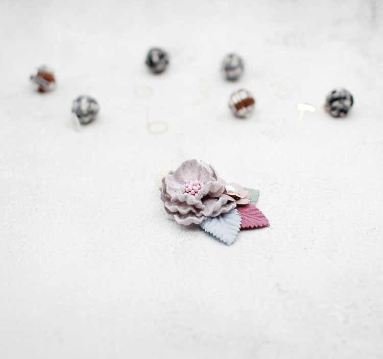 Модная цветочная ткань брошь булавка старшая жемчужная брошь одежда орнамент мешок для обуви DIY товары ручной работы