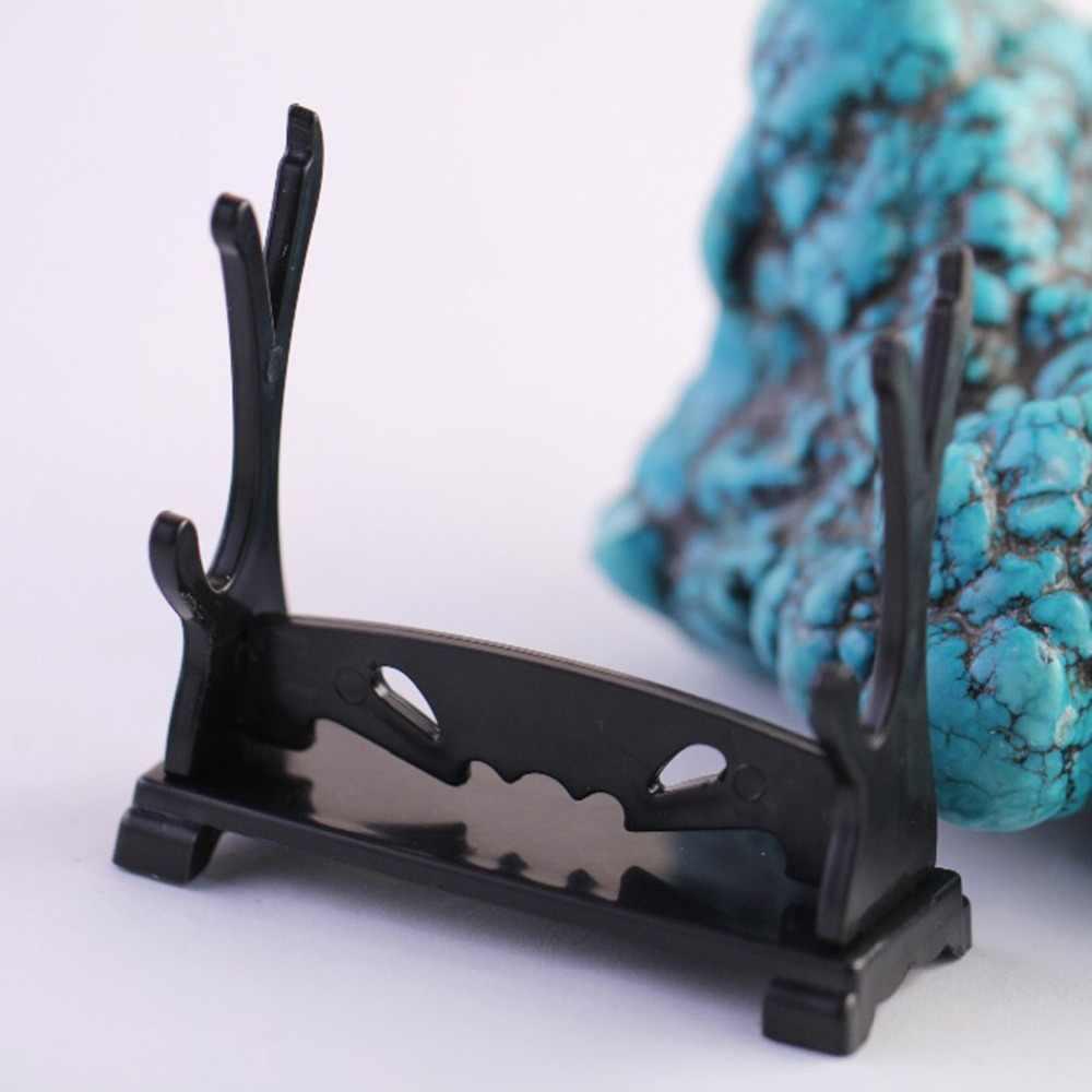 DIY wyświetla stojak miecz pistolet nóż broń Model plastikowy wyświetlacz Anime uchwyt stojak wisiorek odpinany czarny wyświetla stoisko