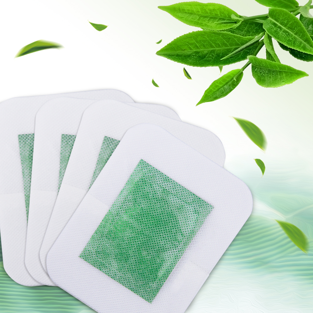 4 PCS Traditional Chinese Detox Foot Patch Green Tea Pads Improve Sleep Patches Beauty Slimming Relax Patch
